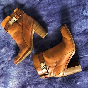 Coach Heeled Ankle Booties